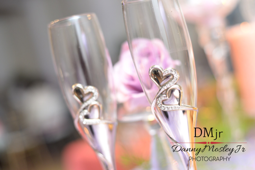 wedding danny mosley jr photography champagne glasses